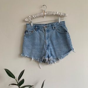 Vintage 90's Denim High Waist Cutoff Jena Shorts